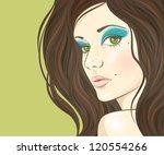 woman portrait | Shutterstock .eps vector #120554266