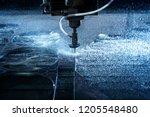 water jet industrial machine... | Shutterstock . vector #1205548480