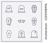 outline 9 cruel icon set.... | Shutterstock .eps vector #1205548996