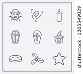 outline 9 dark icon set. coffee ... | Shutterstock .eps vector #1205549029