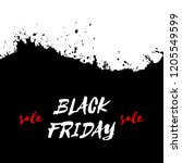 black friday sale watercolor... | Shutterstock . vector #1205549599
