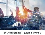 business people putting their...   Shutterstock . vector #1205549959