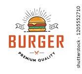 burger logo design  for a fast...   Shutterstock .eps vector #1205552710