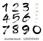numbers 0 9 written with a... | Shutterstock .eps vector #120555433
