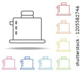 toaster icon. elements of... | Shutterstock .eps vector #1205582746