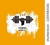 sportsman arm holding disc... | Shutterstock .eps vector #1205583106
