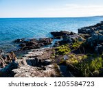 rocky coastline landscape on... | Shutterstock . vector #1205584723
