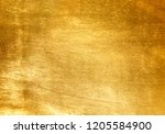 shiny yellow leaf gold foil... | Shutterstock . vector #1205584900