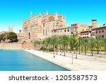 palma de mallorca spain... | Shutterstock . vector #1205587573