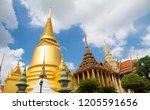 wat phra kaew in bangkok... | Shutterstock . vector #1205591656