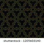 vector geometric seamless... | Shutterstock .eps vector #1205603140