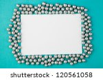 decorative christmas frame with ... | Shutterstock . vector #120561058