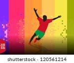 marathon runner man | Shutterstock .eps vector #120561214