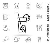 cold drink icon. food and drink ... | Shutterstock .eps vector #1205615050