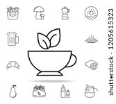 green tea icon. food and drink... | Shutterstock .eps vector #1205615323