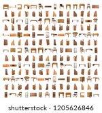 pattern furniture teak and... | Shutterstock . vector #1205626846