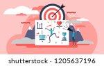 life coach vector illustration. ... | Shutterstock .eps vector #1205637196