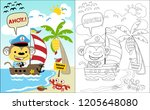 coloring book vector with...   Shutterstock .eps vector #1205648080