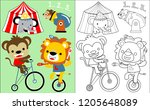 coloring book vector with... | Shutterstock .eps vector #1205648089