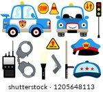 vector  cartoon set of police...   Shutterstock .eps vector #1205648113