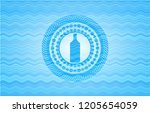 bottle icon inside water... | Shutterstock .eps vector #1205654059