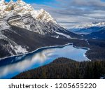 view of peyto lake in banff...   Shutterstock . vector #1205655220