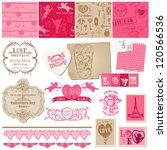 scrapbook design elements  ... | Shutterstock .eps vector #120566536