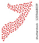 mosaic map of somalia created... | Shutterstock .eps vector #1205668039