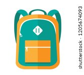 green and yellow school bag | Shutterstock . vector #1205674093