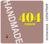 label for handmade with a 404...   Shutterstock .eps vector #1205679049