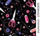 seamless pattern with colorful...   Shutterstock .eps vector #1205681833