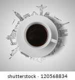 Cup Of Coffee  Traveling Concept