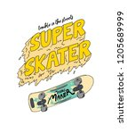 skate board and type print | Shutterstock .eps vector #1205689999