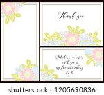vintage delicate greeting... | Shutterstock .eps vector #1205690836