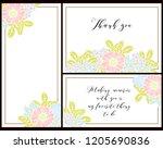 vintage delicate greeting... | Shutterstock .eps vector #1205690836