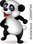 panda cartoon dancing | Shutterstock . vector #120569764