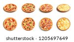 set with different delicious... | Shutterstock . vector #1205697649