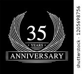 35 years design template. 35th... | Shutterstock .eps vector #1205698756