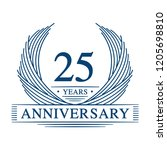 25 years design template. 25th... | Shutterstock .eps vector #1205698810