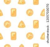 precious gemstones  crystals of ... | Shutterstock .eps vector #1205703070