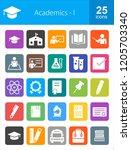 academics filled round corner... | Shutterstock .eps vector #1205703340