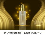 beauty product  gold cosmetic... | Shutterstock .eps vector #1205708740