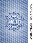 aberrant blue hexagon badge. | Shutterstock .eps vector #1205712049