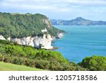 cathedral cove coast in new... | Shutterstock . vector #1205718586