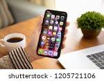 alushta  russia   september 26  ... | Shutterstock . vector #1205721106
