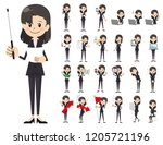 it is a character set of a... | Shutterstock .eps vector #1205721196