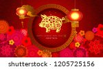 chinese new year also known as... | Shutterstock . vector #1205725156