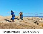 village khuzhir  lake baikal ... | Shutterstock . vector #1205727079