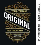 victorian badge stylish luxury... | Shutterstock .eps vector #1205728639