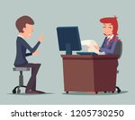 task conversation job interview ... | Shutterstock . vector #1205730250